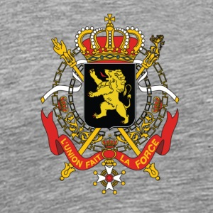 National Coat Of Arms Of Belgium - Men's Premium T-Shirt