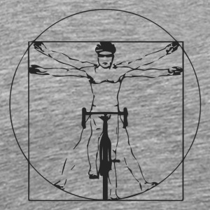 Da Vinci Body Tech - Cyclist Tech. Art. Cycling - Men's Premium T-Shirt
