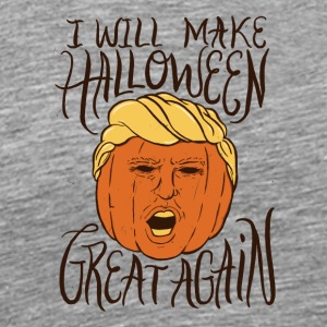 Halloween Trump. Pumpkin. Scary. Spooky. Fall.Nite - Men's Premium T-Shirt