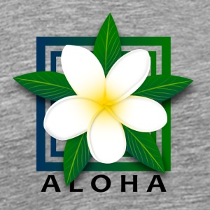 Tropical Island Flower w/ Aloha - Men's Premium T-Shirt