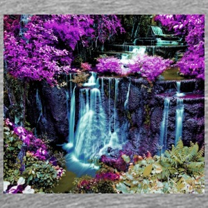 colorful waterfall wallpaper 10389049 - Men's Premium T-Shirt