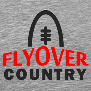 Flyover Country Word Logo Dark - Men's Premium T-Shirt
