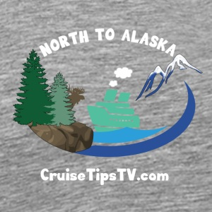 North to Alaska - White Font & Brown Moose - Men's Premium T-Shirt