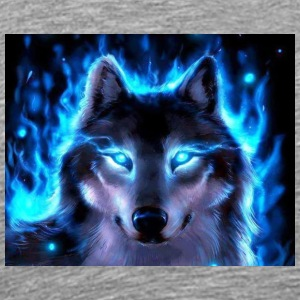 BLUE fire wolf - Men's Premium T-Shirt