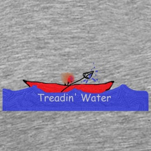 Treadin water design - Men's Premium T-Shirt