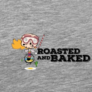 ROASTED AND BAKED Aquarium diver Baldhead - Men's Premium T-Shirt