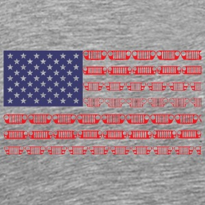 Flag of the United States jeep - Men's Premium T-Shirt