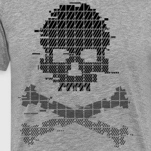 Game Over 8bit Black glitch - Men's Premium T-Shirt