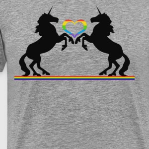 Totally Straight Unicorn Rainbow Gay Pride - Men's Premium T-Shirt