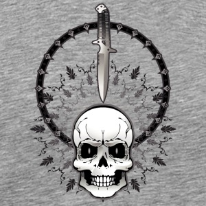 Cult_skull_with_knife - Men's Premium T-Shirt