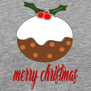 merry xmas christmas pudding - Men's Premium T-Shirt