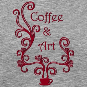 Coffee and Art - Men's Premium T-Shirt