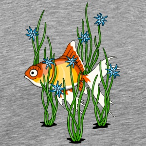 little cute veiltail fish swimming on your shirt - Men's Premium T-Shirt