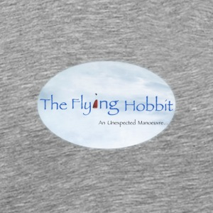 The Flying Hobbit - Humorous Paragliding Design - Men's Premium T-Shirt