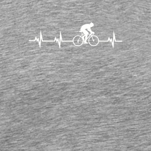 Cycling Heartbeat - Men's Premium T-Shirt