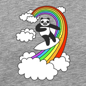 Pandas Surf Rainbows - Men's Premium T-Shirt