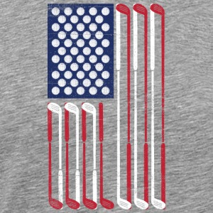 Vintage US Flag Golf Balls + Clubs  Cool Golf - Men's Premium T-Shirt