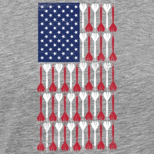 Vintage Flag  US Flag Made of Darts  Bullseye - Men's Premium T-Shirt