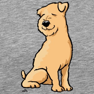 Wheaten terrier cartoon dog - Men's Premium T-Shirt