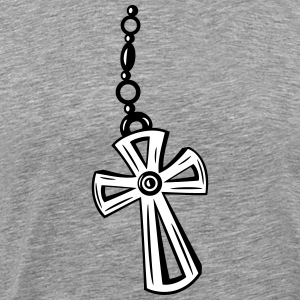 Cross, Crucifix with gemstone. - Men's Premium T-Shirt
