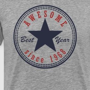 49th Birthday Awesome since T Shirt Made in 1968 - Men's Premium T-Shirt