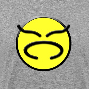 Yellow Don't Worry Be Happy Face Mash-Up - Men's Premium T-Shirt