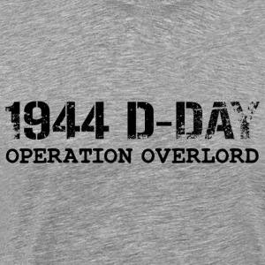 1944 D-Day Operation Overlord (Black) - Men's Premium T-Shirt