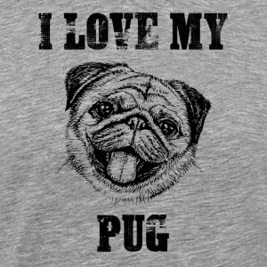 I Love My Pug Gift Shirt