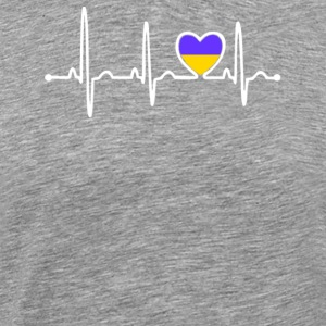 Ukraine Country Flag Heartbeat