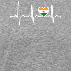 India Country Flag Heartbeat