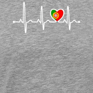 Portugal Country Flag Heartbeat