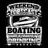 Weekend Forecast Boating Drinking Tee - Men's Premium T-Shirt