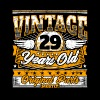 Funny 29th Birthday Shirt: Vintage 29 Years Old - Men's Premium T-Shirt