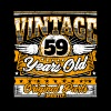 Funny 59th Birthday Shirt: Vintage 59 Years Old - Men's Premium T-Shirt
