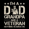 I m a dad grandpa and a veteran nothing scares me - Men's Premium T-Shirt
