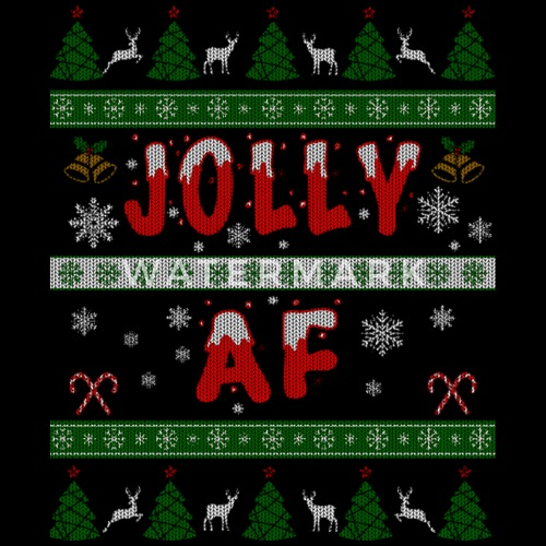 merry christmas jolly af ugly christmas sweater by dacow spreadshirt