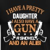 Dad's Daughter - Father Against Daughter's Dating - Men's Premium T-Shirt