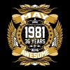 May 1981 36 Years Of Being Awesome - Men's Premium T-Shirt