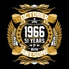 October 1966 51 Years Of Being Awesome - Men's Premium T-Shirt