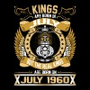 The Real Kings Are Born On July 1960 - Men's Premium T-Shirt