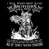 i will stand next to my brothers and fall with the - Men's Premium T-Shirt