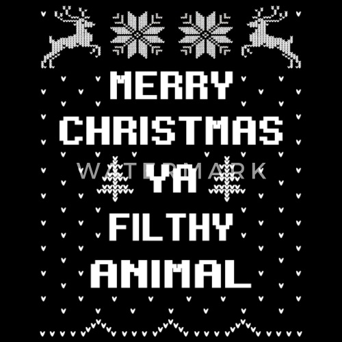 merry christmas filthy animal by bestgifttshirt spreadshirt