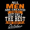 All men the best are born in October - Men's Premium T-Shirt