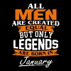 Legends are born in January shirt - Men's Premium T-Shirt