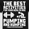 Pumping And Humping (Pictograms) - Men's Premium T-Shirt