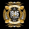December 1946 71 Years Of Being Awesome - Men's Premium T-Shirt