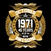 October 1971 46 Years Of Being Awesome - Men's Premium T-Shirt