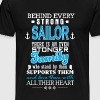 Behind every strong sailor there is a family - Men's Premium T-Shirt