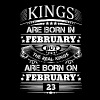 Real Kings Are Born On February 23 - Men's Premium T-Shirt
