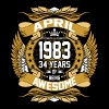 April 1983 34 Years Of Being Awesome - Men's Premium T-Shirt